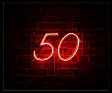 '50' Neon Sign
